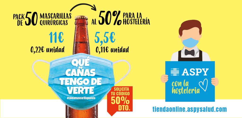 Foto de Campaña de Aspy en apoyo a la hostelería, 50% descuento en