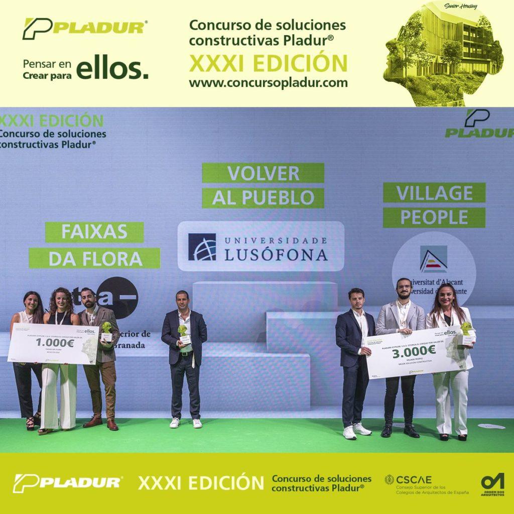 Foto de Ganadores XXXI Concurso de Soluciones Constructivas Pladur®