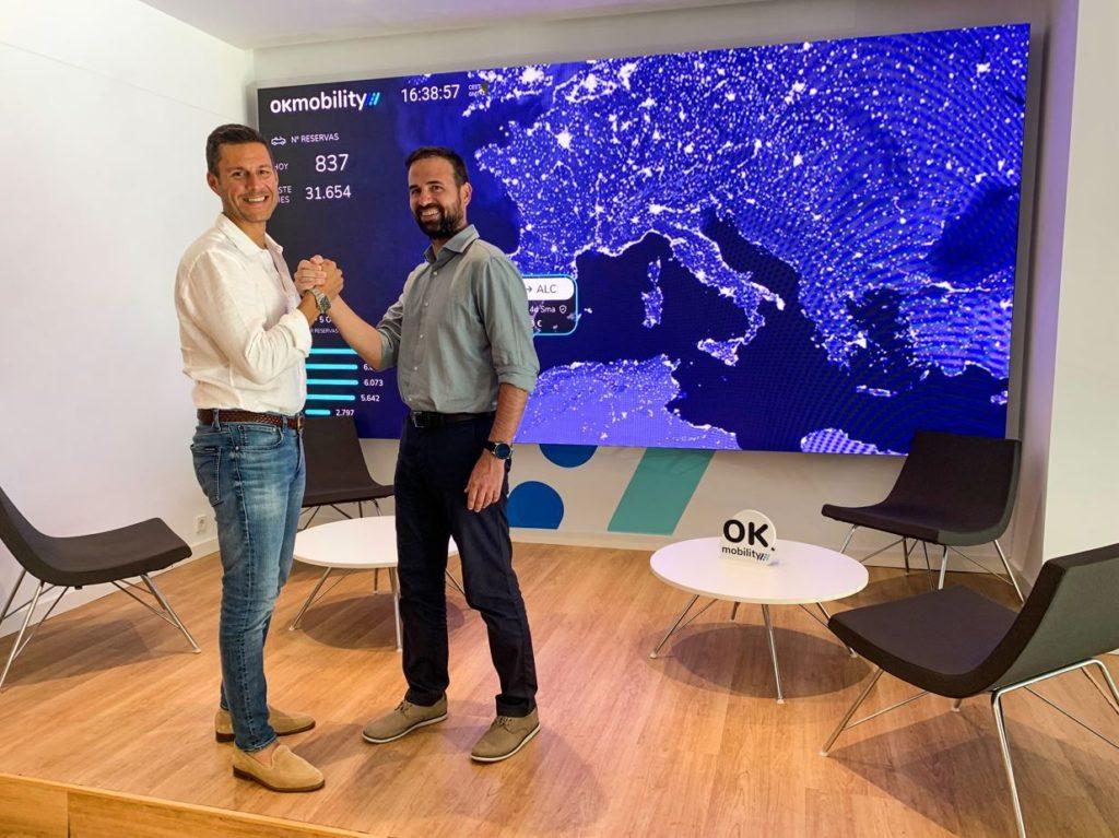 Foto de Othman Ktiri, CEO de OK Mobility, y Toni Oliver, CTO